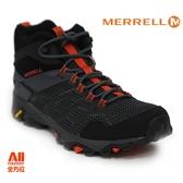 【Merrell】男款戶外鞋 MOAB FST 2 MID GTX 多功能系列 -黑/橘紅(77485)【全方位運動戶外館】
