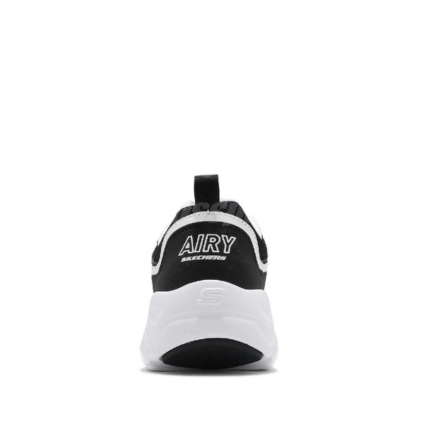 Skechers 休閒鞋 D Lites Airy-Matter Of Time 黑 白 女鞋 運動鞋 老爹鞋 【ACS】 66666231BKW