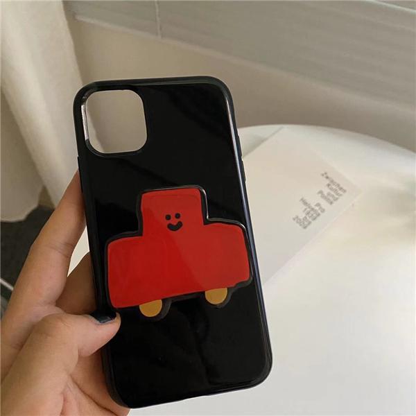 韓國ins可愛手機伸縮氣囊粘貼支架適用蘋果通用桌面支撐