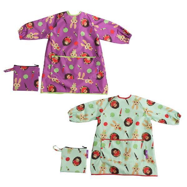英國 Tidy TOT 長版防水圍兜(2色可選)防髒衣 畫畫衣 長袖圍兜