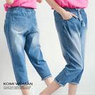 【KOMI】 鬆緊綁帶水洗刷色牛仔褲(1615-618218)