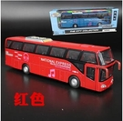 玩具模型車 5開門合金雙層巴士模型仿真旅游大巴車公交車客車兒童玩具車【快速出貨八折搶購】