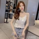 2021新款韓版V領上衣吊帶純色性感甜美內搭外穿百搭打底女背心 小宅妮