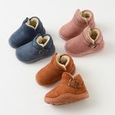 兒童雪靴 兒童雪地靴短筒棉鞋寶寶鞋子加絨韓版短靴