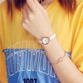 手錶 韓版經典復古小表盤文藝簡約圓女表細帶皮帶小清新百搭學生手錶潮 芭蕾朵朵
