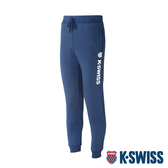 K-SWISS Branding Logo Sweat Pants保暖運動長褲-男-藍