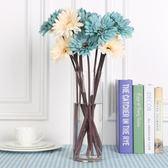假花 10支!復古非洲菊仿真花束菊花向日葵塑料花 巴黎春天