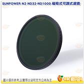 SUNPOWER N2 ND32~ND1000 磁吸式可調式濾鏡 公司貨 減光鏡 ND鏡 適用67-82口徑