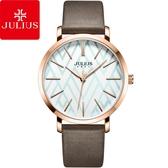 JULIUS 聚利時 舞彩戀曲皮錶帶腕錶-復古棕/38mm【JA-1114C】