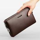 韓版休閒手拿包男生包包 密碼鎖防盜男士手機包 簡約夾包時尚潮流手抓包 商務大容量手拿包手包