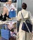 【2wenty6ix】韓國品牌EMO 2020F/W Monogram牛仔王妃包 -大尺寸+珍珠揹帶