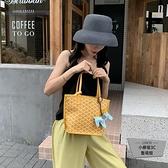 包包女包狗牙包菜籃子托特包側背大容量手提包小包【小柠檬3C】