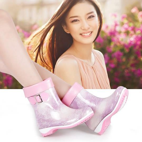 秋冬季雨鞋女中筒防滑防水膠鞋加絨保暖短筒水靴雨靴時尚水鞋套鞋 艾尚旗艦店