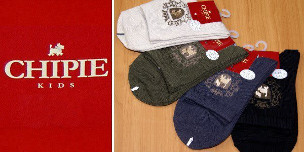 CHIPIE 優質棉襪╭*專櫃款˙刺繡圖驣素面童襪