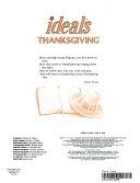 二手書博民逛書店 《Ideals Thanksgiving, 1985》 R2Y ISBN:0824910389│Ideals Publications