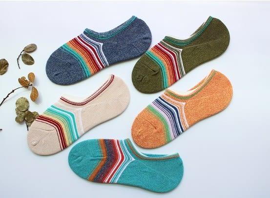 [協貿國際]夏季男士全棉淺口船襪防滑吸汗混色矽膠棉襪