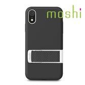 {原廠公司貨}Moshi Capto iPhone XR 指環支架織帶保護殼 - 桑葚黑