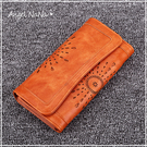 (促銷中)磁釦長夾-復古簍空雕花磁釦皮夾手機包手拿包 Angelnana (SMA0247)