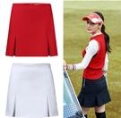 高爾夫裙 春夏正韓網羽毛球運動高爾夫服裝女裝速干A字golf防走光短裙褲裙-Ballet朵朵
