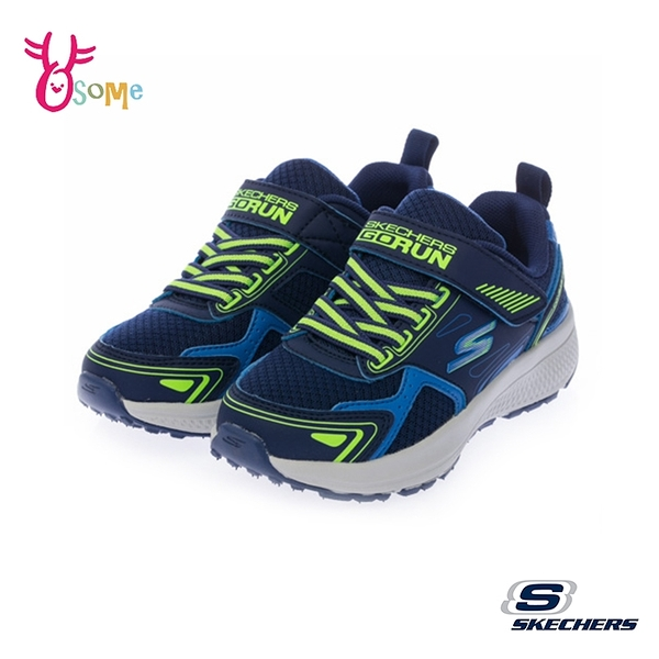 Skechers童鞋 男童運動鞋 GORUN CONSISTENT 輕量 記憶鞋墊 跑步鞋 慢跑鞋 魔鬼氈 V8223#藍色◆奧森