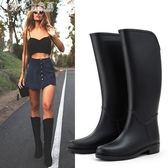 雨靴 高筒成人水鞋休閒膠鞋水靴女式防滑保暖雨鞋女「Chic七色堇」