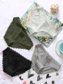 六只兔子4條裝女性感蕾絲三角內褲棉質舒適薄款透氣少女底褲