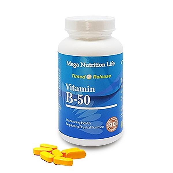 營養生活維他命B群錠(B-50) 90錠/瓶