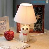 乖乖貓咪檯燈LED臥室床頭燈【洛麗的雜貨鋪】