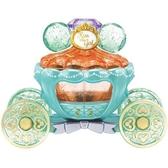小禮堂 TOMICA多美小汽車 迪士尼 小美人魚 水晶南瓜馬車 珠寶車 玩具車 (綠橘) 4904810-13977