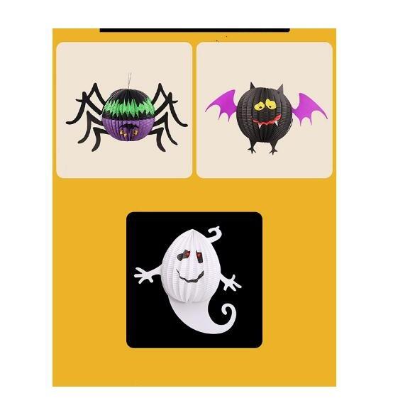 【BlueCat】萬聖節白幽靈蜘蛛蝙蝠折疊燈 燈籠