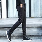 黑色男褲子男抗皺免燙夏季休閒褲男修身男士西褲男直筒商務百搭薄 依凡卡時尚