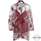 性感連身泳衣女溫泉連體罩衫顯瘦遮肚韓國時尚兩件式【時尚大衣櫥】