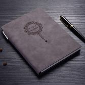 a5復古皮面筆記本文具本子帶筆辦公用學生