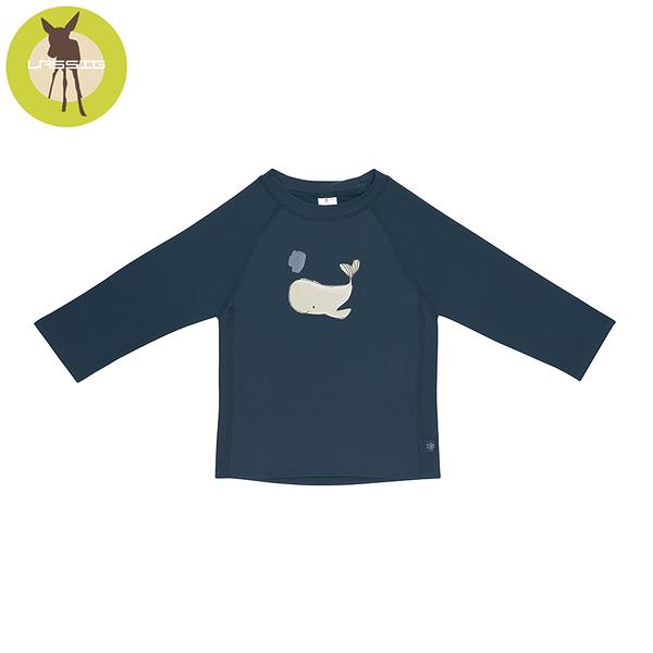 德國LASSIG-嬰幼兒抗UV長袖泳裝上衣-小鯨魚