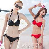 艾尼芙瑞韓國鋼托聚攏大小胸女性感黑色紅色比基尼女游泳衣維多   米娜小鋪