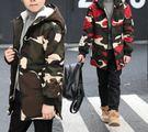 品質童裝秋冬上新男童加絨迷彩連帽外套(兩色/六碼可選)