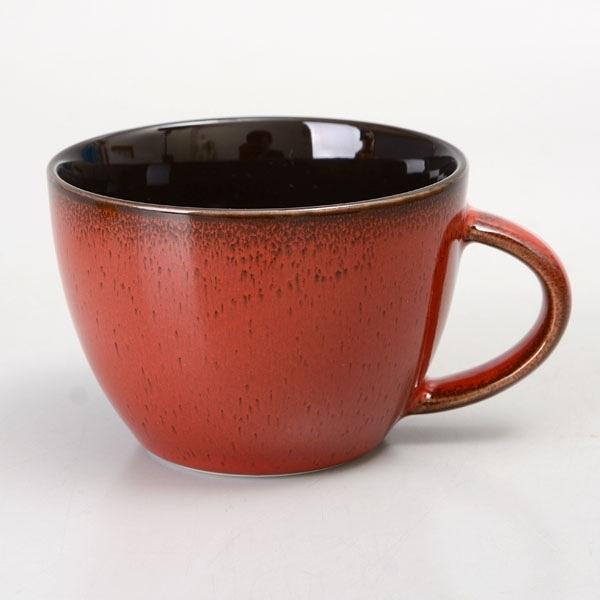 【Luzerne】陸升瓷器 Rustic 茶杯 249ml-酒紅色 /RT1407133