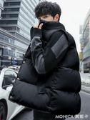 棉馬甲男秋冬季韓版潮流情侶款羽絨棉坎肩加厚保暖背心無袖外套男   美斯特精品