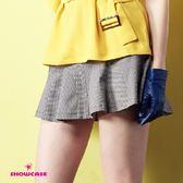 【SHOWCASE】格紋修臀剪裁俏麗短裙(黑)