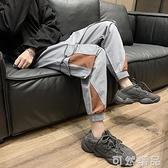 工装裤男潮牌束脚ins超火裤子潮流百搭港风宽鬆男士休闲长裤韩版 可然精品