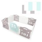 韓國 IFAM G尺寸遊戲圍欄-灰白色+灰白綠地墊