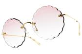 Chloe 太陽眼鏡 CE142S 818 (金-漸層紫鏡片) 甜美花漾大框款 墨鏡 # 金橘眼鏡