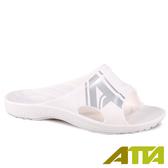 【333家居鞋館】ATTA 足底均壓 潮感個性足弓拖鞋-白銀色