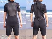 Ladie日本heleiWaho 3mm超彈潛水衣連身短袖防寒衣/游泳衣/衝浪衣/禦寒保暖 浮潛 SUP划水現貨