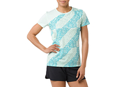 ASICS 亞瑟士 女短袖T恤 LITE-SHOW 運動短T 151326-1183 湖水綠 [陽光樂活]