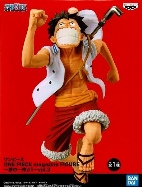 現貨 玩具e哥景品海賊王ONE PIECE magazine FIGURE夢的一枚#1 vol.3 魯夫代理16398