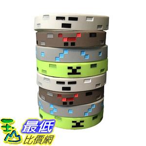 [8美國直購] 手環 Pixel Miner Crafting Style Character Wristband Sets (8 Pack)- Pixel Theme Bracelet Designs - Spider