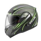【東門城】ZEUS ZS3300 GG27(消光黑綠) 可掀式安全帽 雙鏡片