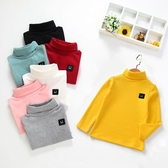 男童女童秋冬季高領打底衫童裝新款寶寶長袖T恤2019中小兒童上衣