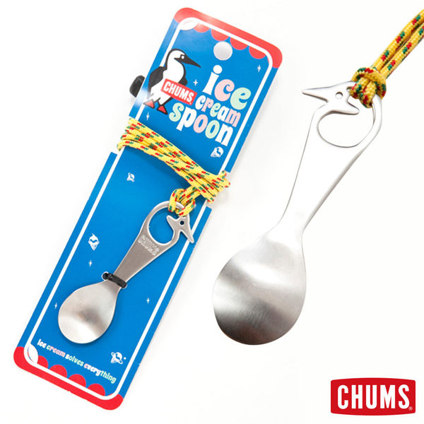 【日本製】CHUMS 冰淇淋 湯匙 可掛胸前 露營野餐專用 CH6210070000
